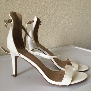 Strappy White Charlotte Russe Heels